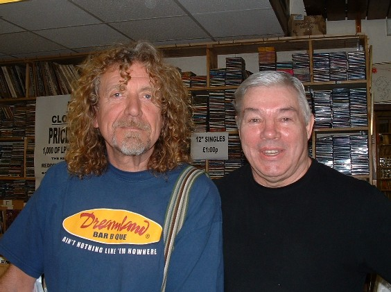 Danny with Robert Plant'